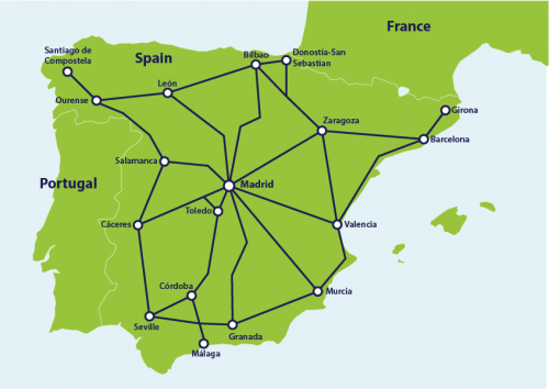 travel spain by train
