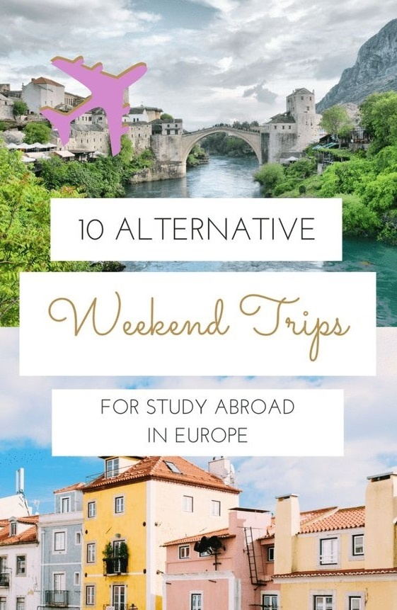 weekend trips study in europe