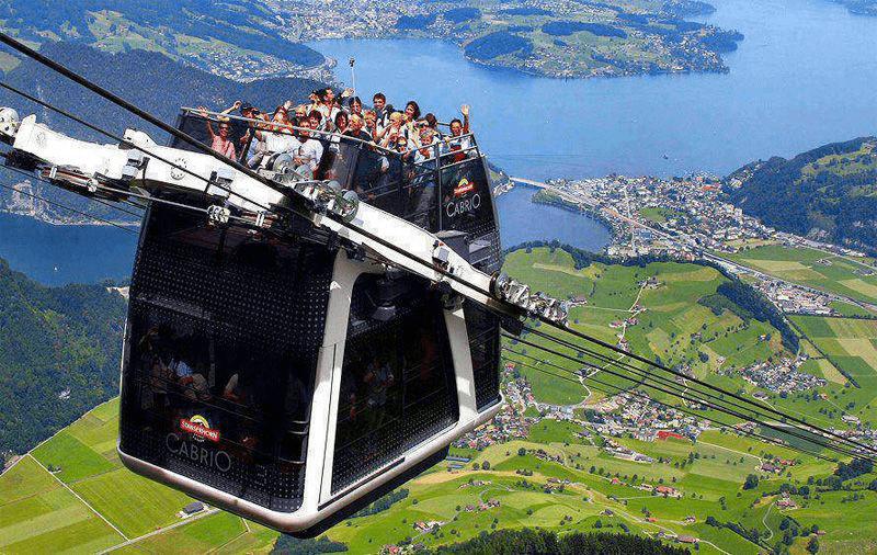 gondola ride to first cliff walk