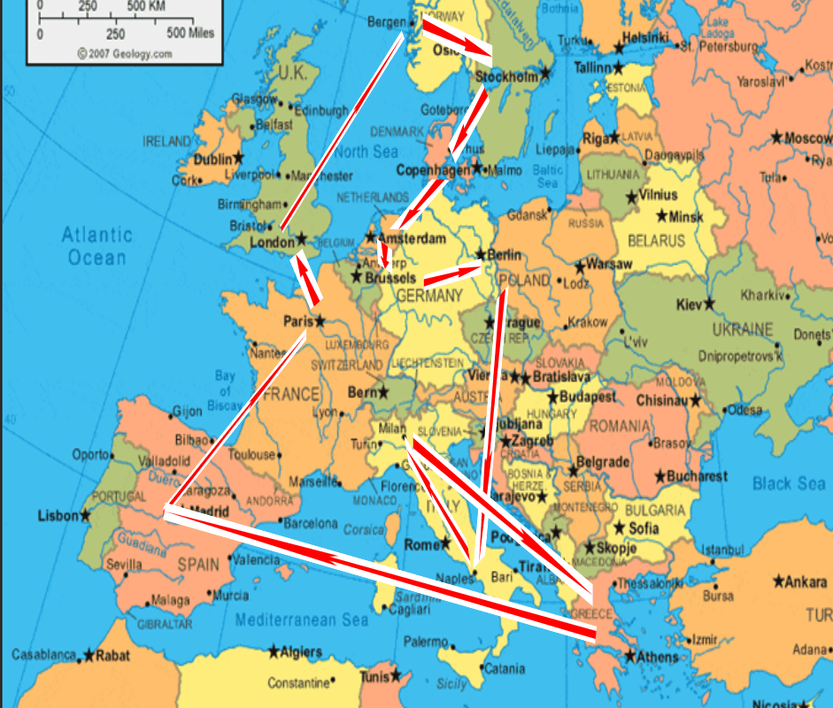 backpacking europe for 2 months